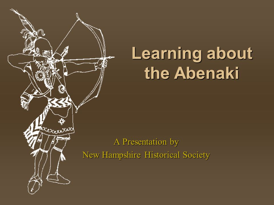 Learning about the Abenaki