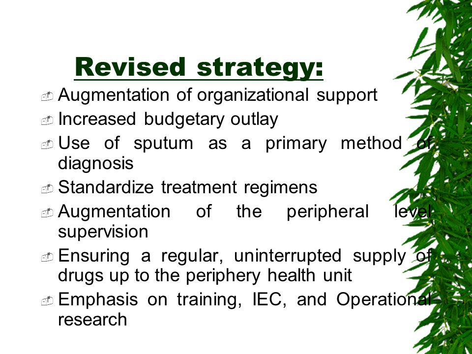 Revised strategy: Augmentation of organizational support