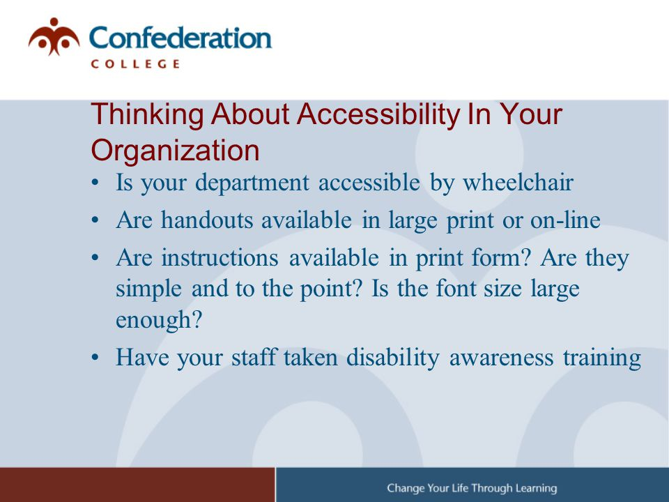 Thinking About Accessibility In Your Organization