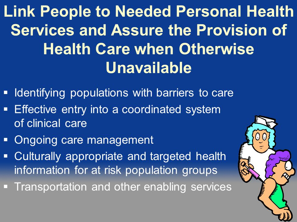 Link People to Personal Health Services
