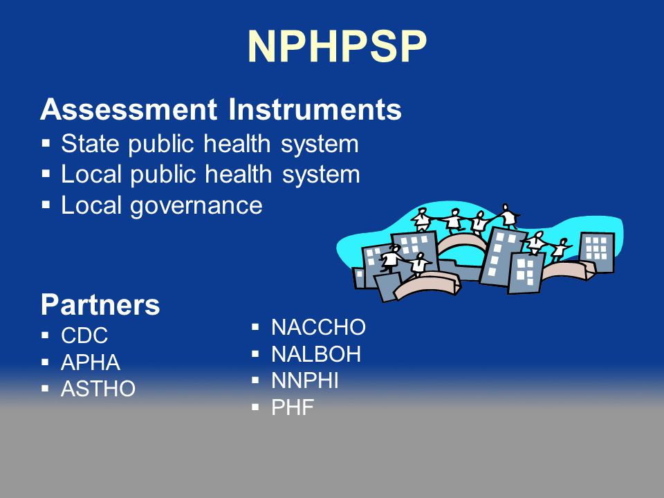 NPHPSP Assessment Instruments Partners State public health system