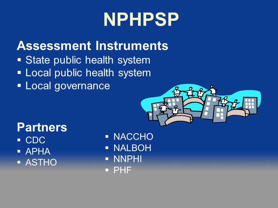 NPHPSP Assessment Instruments Partners State public health system