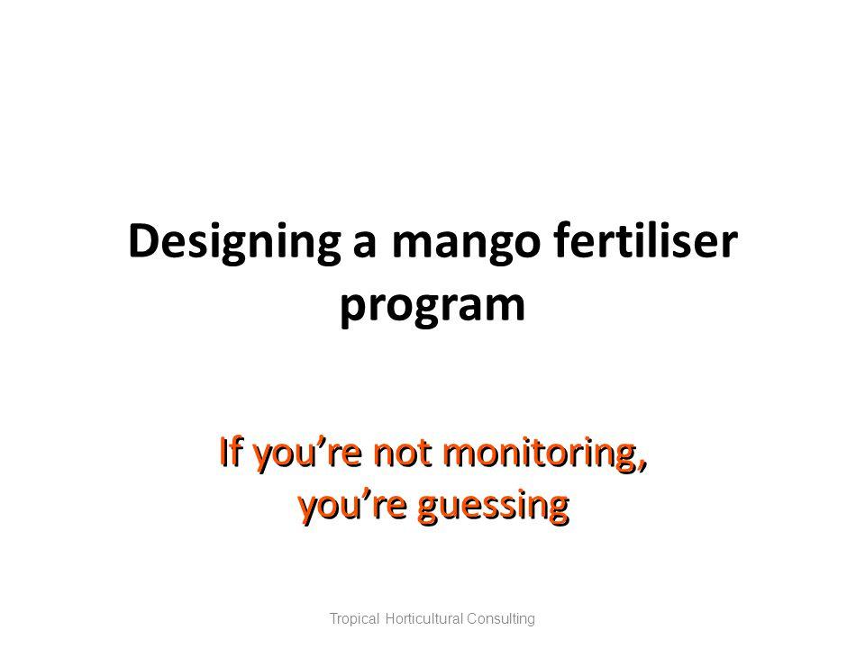 Designing a mango fertiliser program