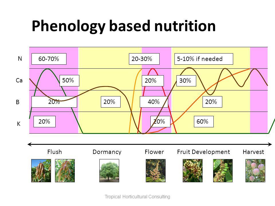 Phenology based nutrition