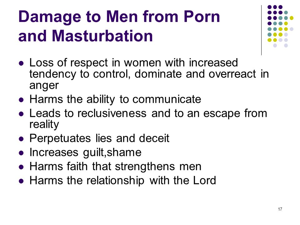 Damage to Men from Porn and Masturbation