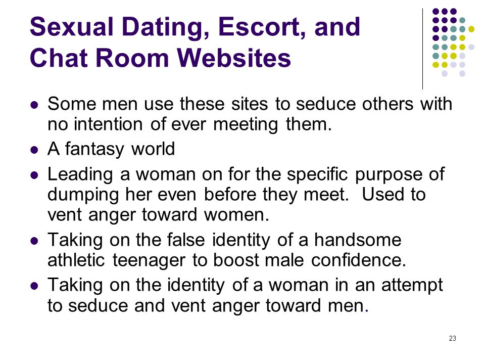 Sexual Dating, Escort, and Chat Room Websites