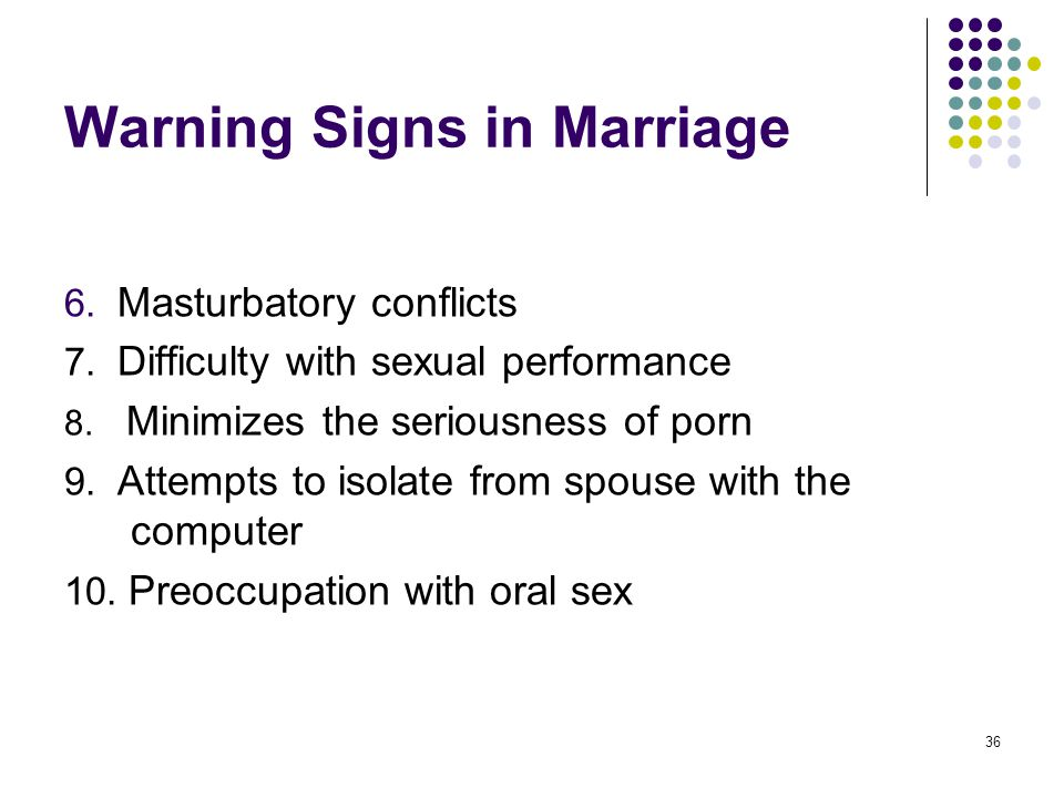 Warning Signs in Marriage