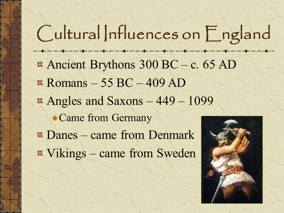 Cultural Influences on England