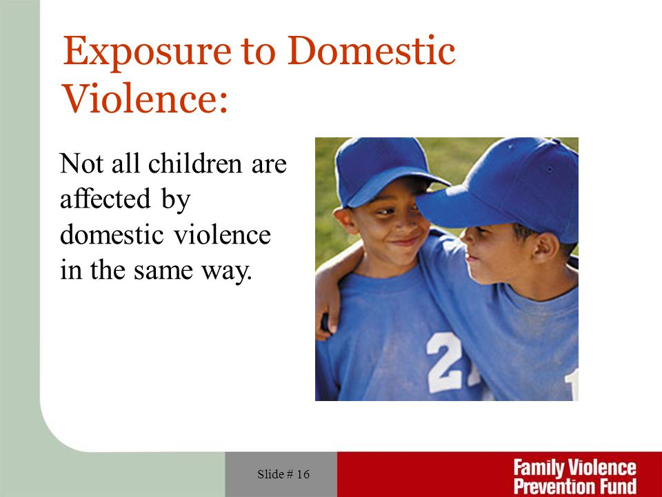 Exposure to Domestic Violence: