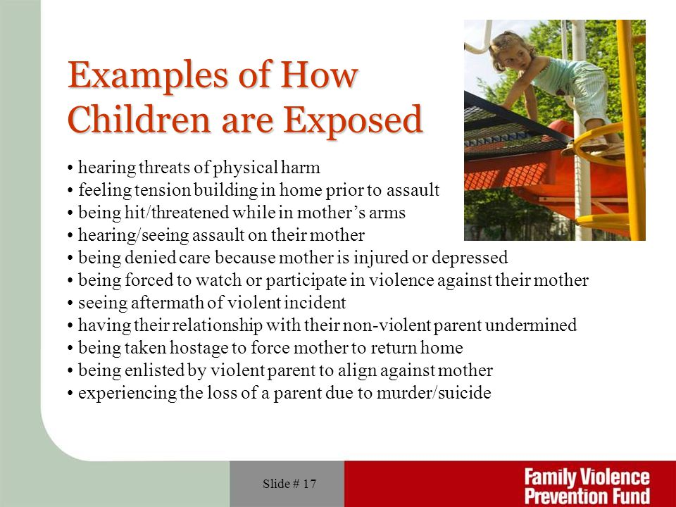 Examples of How Children are Exposed