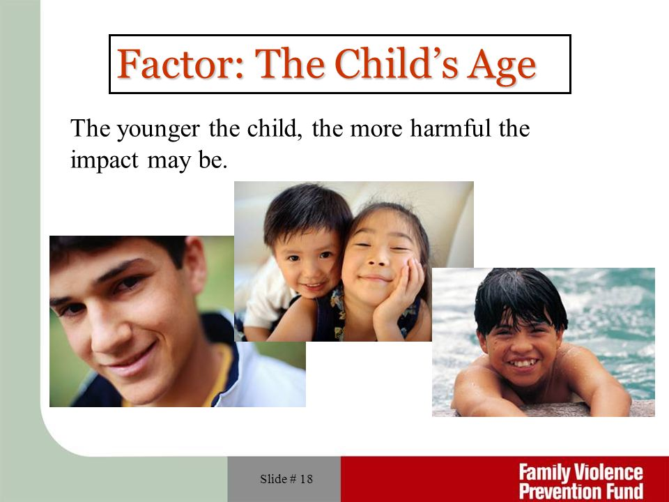 Factor: The Child's Age