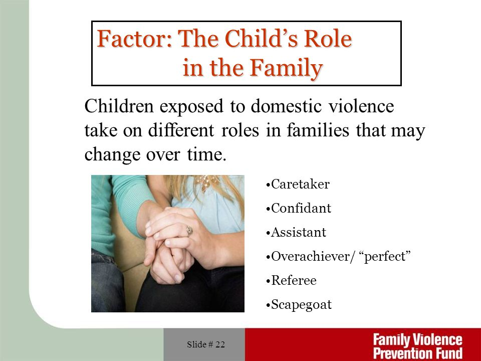 Factor: The Child's Role in the Family