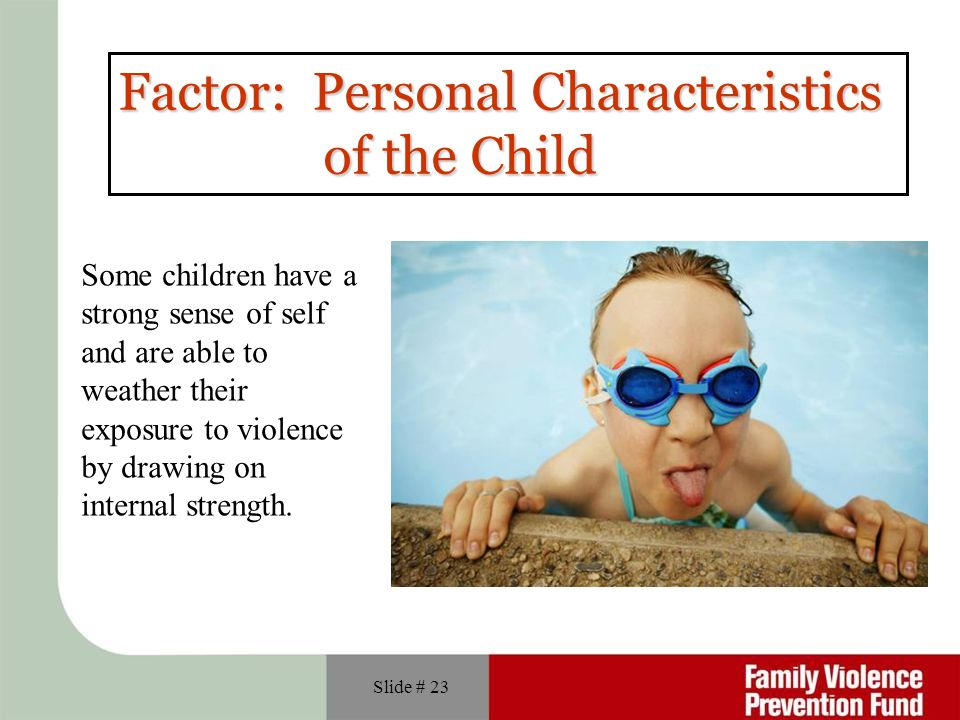 Factor: Personal Characteristics of the Child
