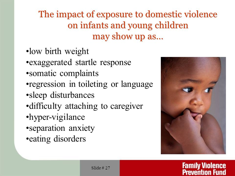 The impact of exposure to domestic violence