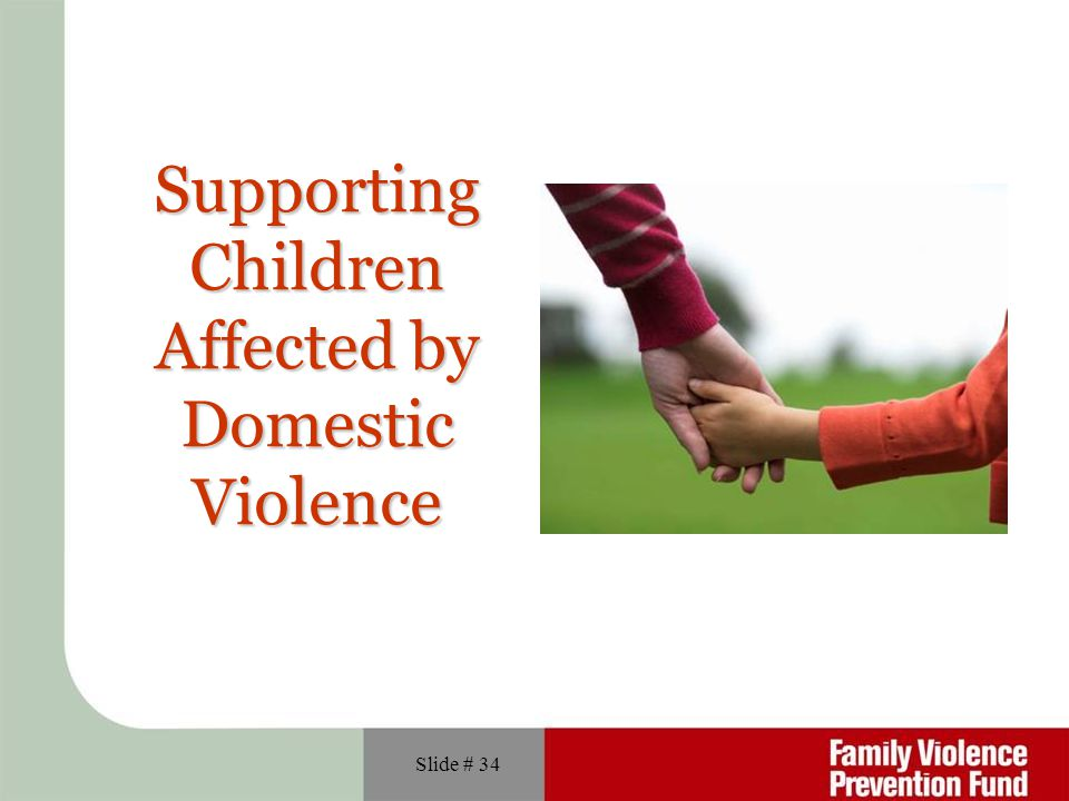 Supporting Children Affected by Domestic Violence