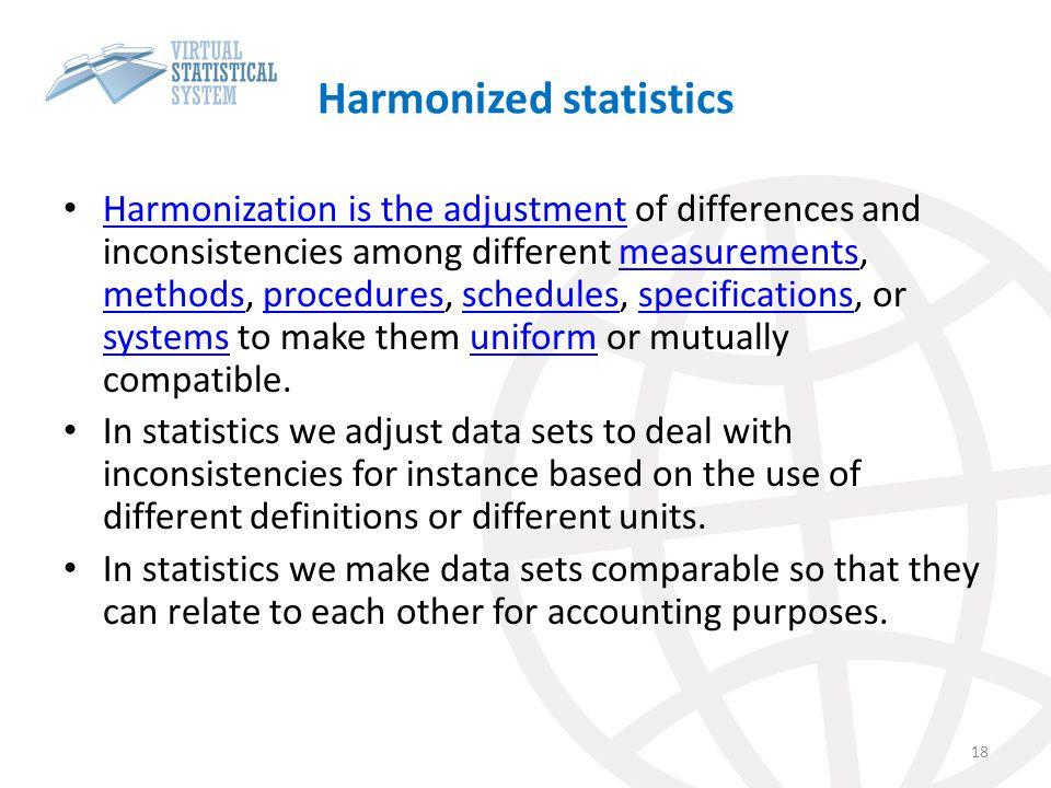 Harmonized statistics