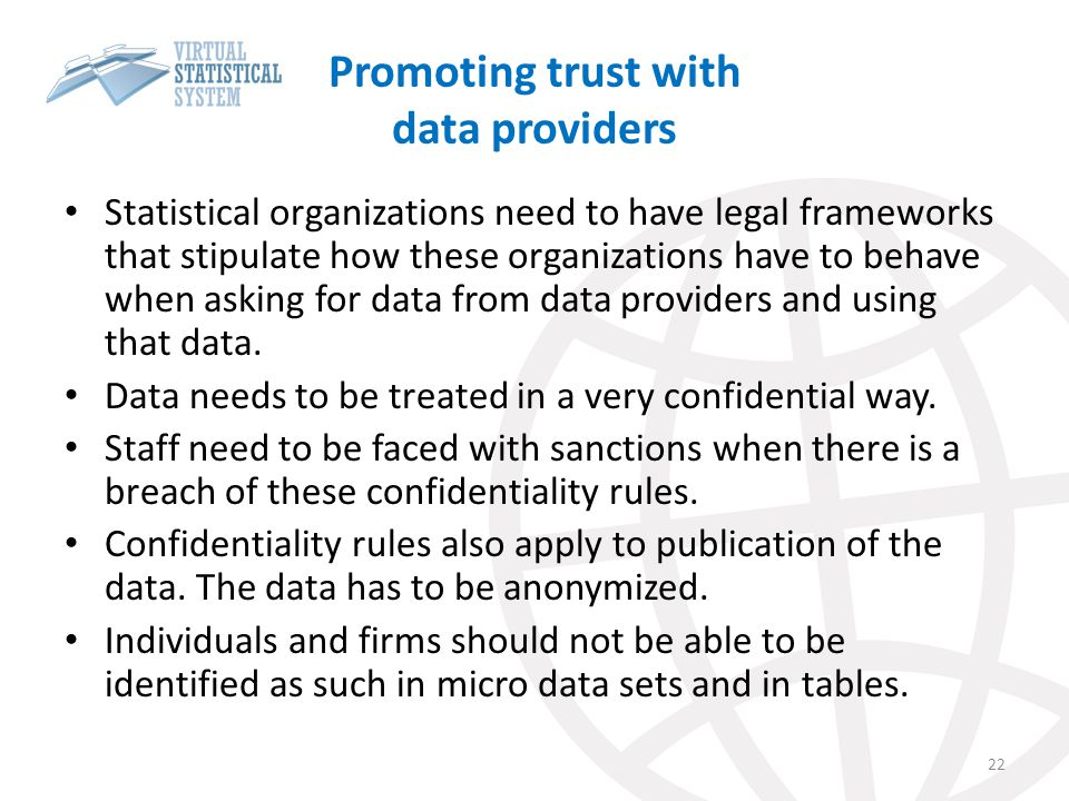 Promoting trust with data providers