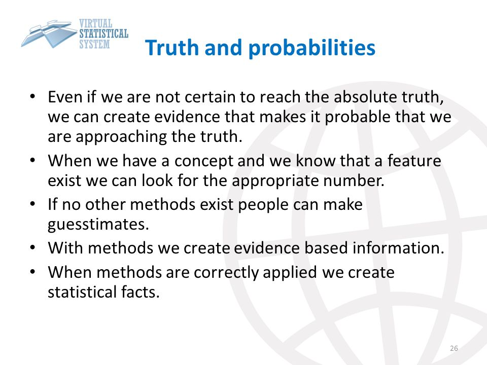 Truth and probabilities