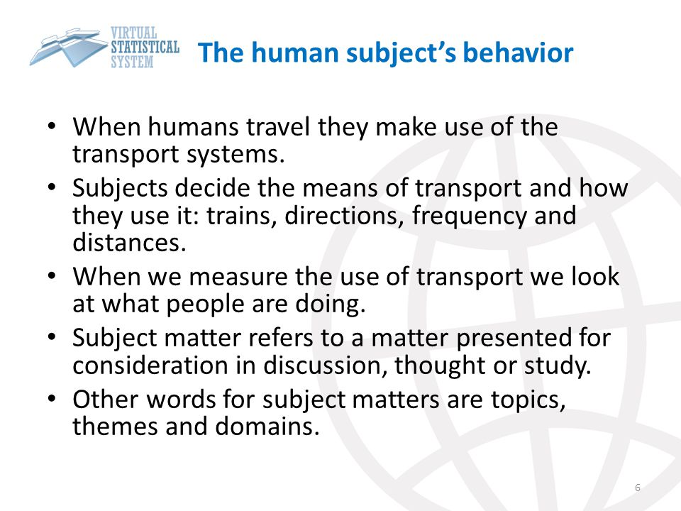 The human subject's behavior