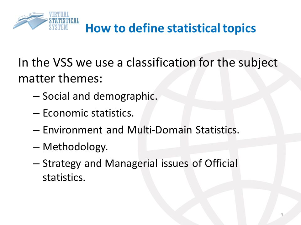How to define statistical topics