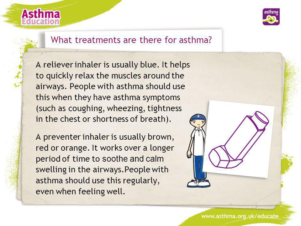 What treatments are there for asthma