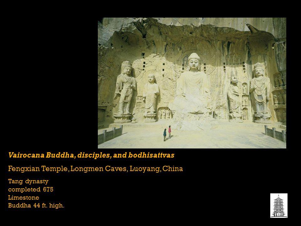 Vairocana Buddha, disciples, and bodhisattvas
