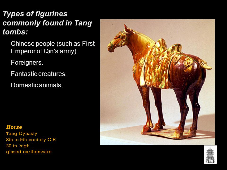 Types of figurines commonly found in Tang tombs: