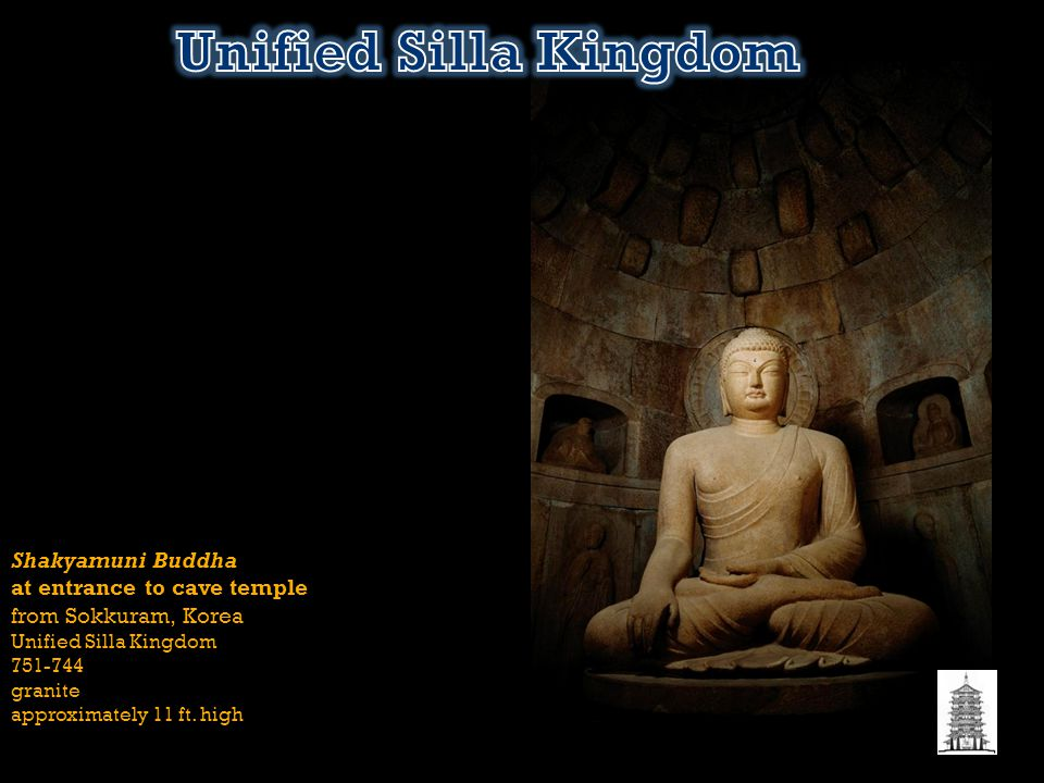 Unified Silla Kingdom Shakyamuni Buddha at entrance to cave temple