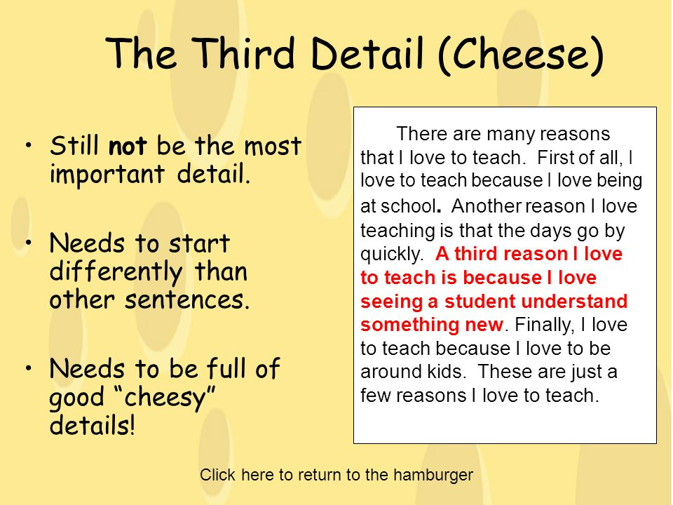 The Third Detail (Cheese)