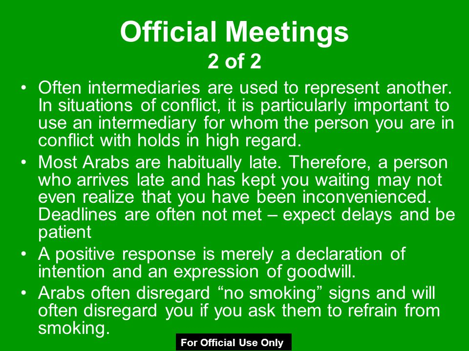 Official Meetings 2 of 2