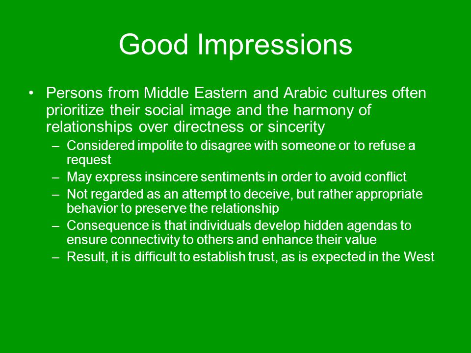 Good Impressions