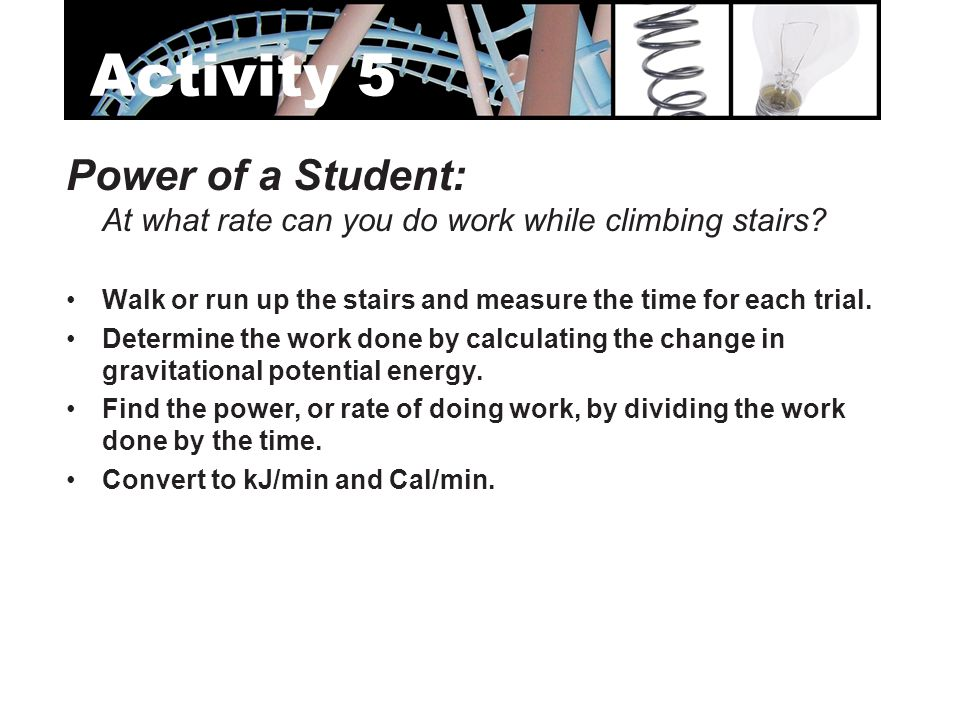 Activity 5 Power of a Student: