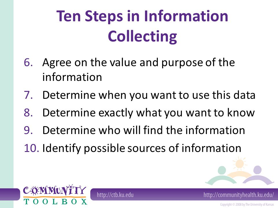 Ten Steps in Information Collecting