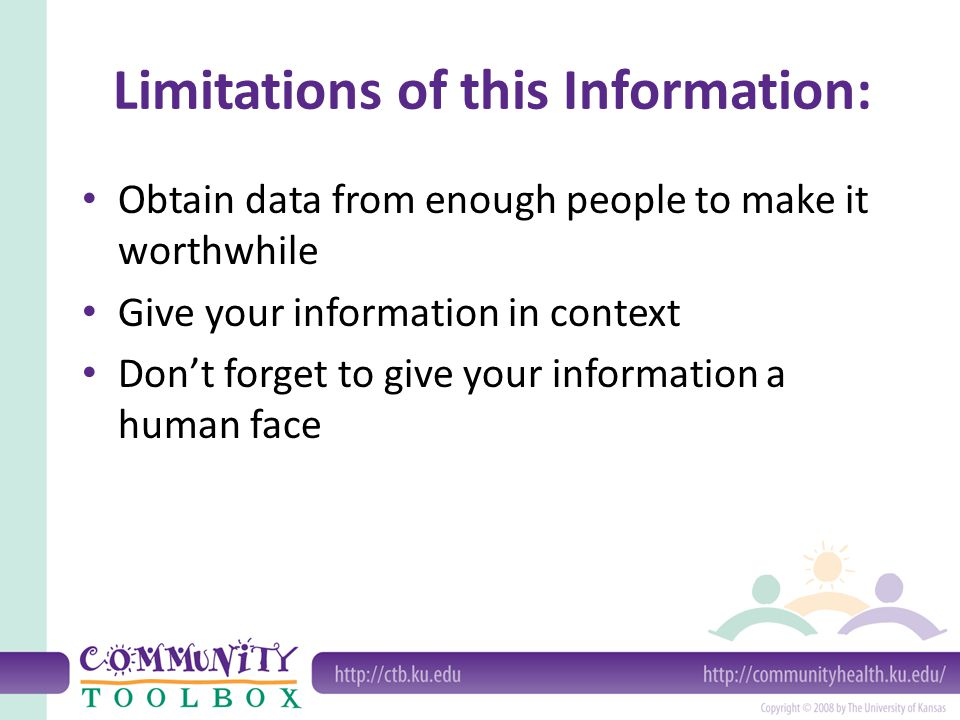 Limitations of this Information: