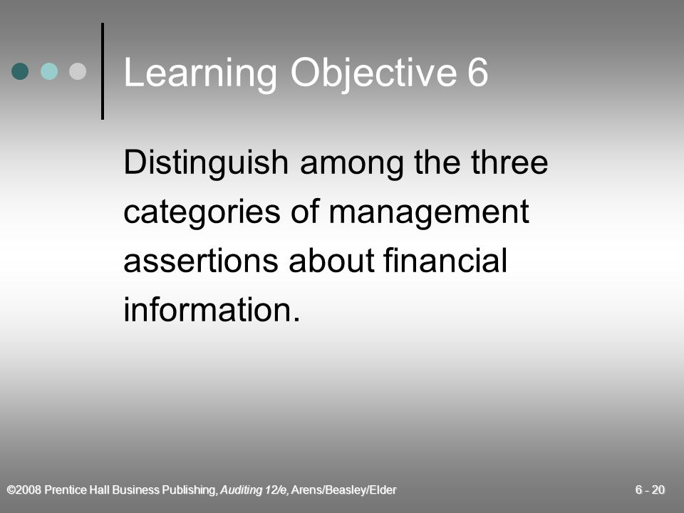 Learning Objective 6 Distinguish among the three