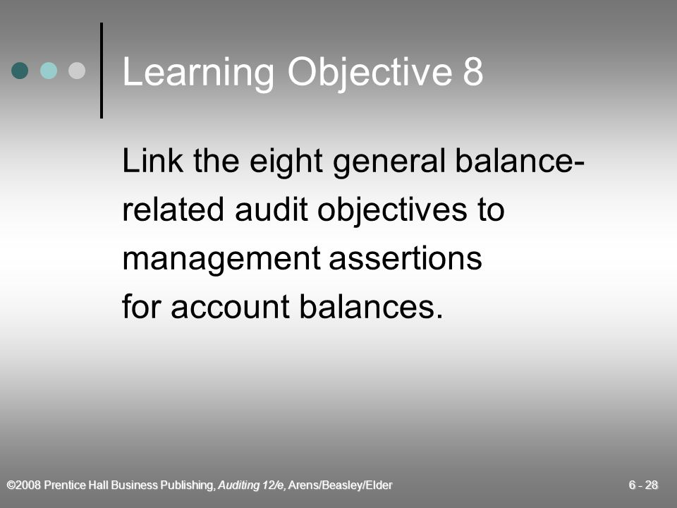 Learning Objective 8 Link the eight general balance-