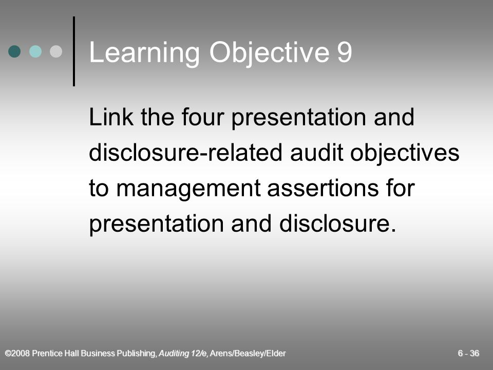 Learning Objective 9 Link the four presentation and