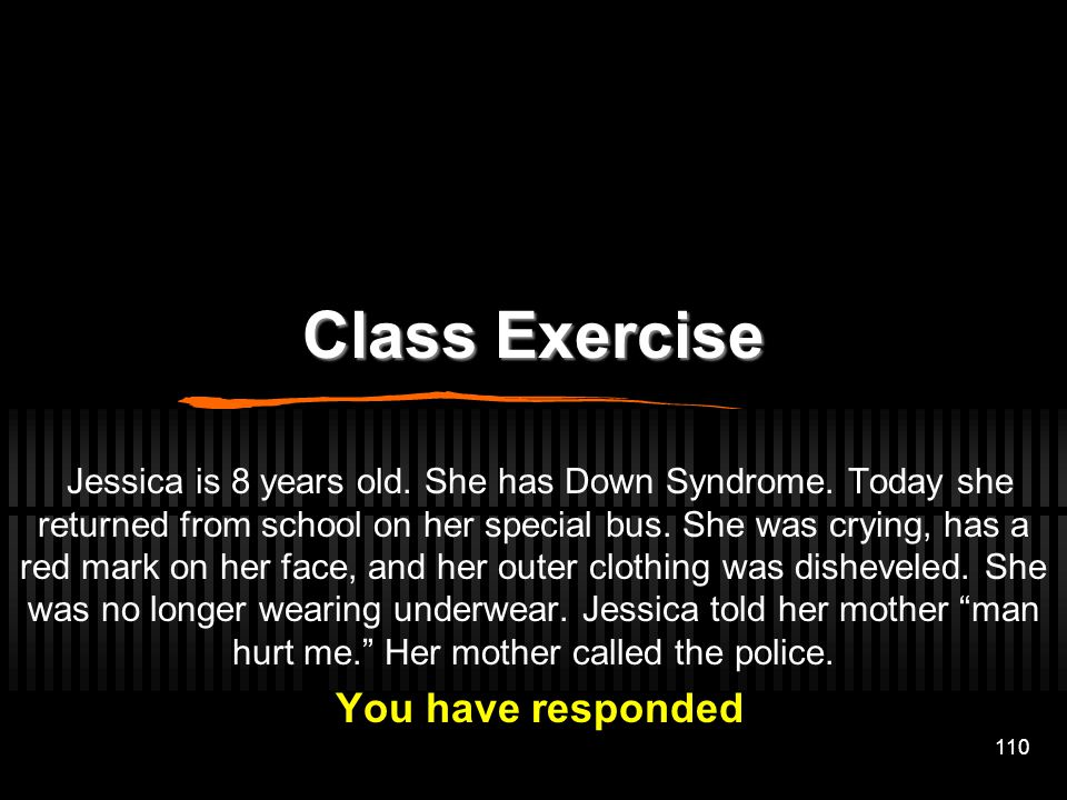 Class Exercise You have responded