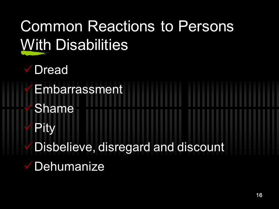 Common Reactions to Persons With Disabilities
