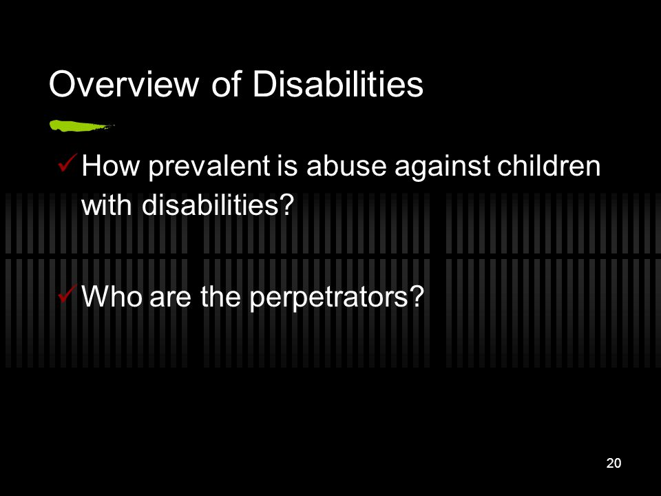 Overview of Disabilities