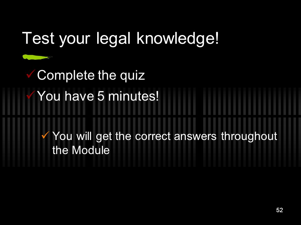 Test your legal knowledge!