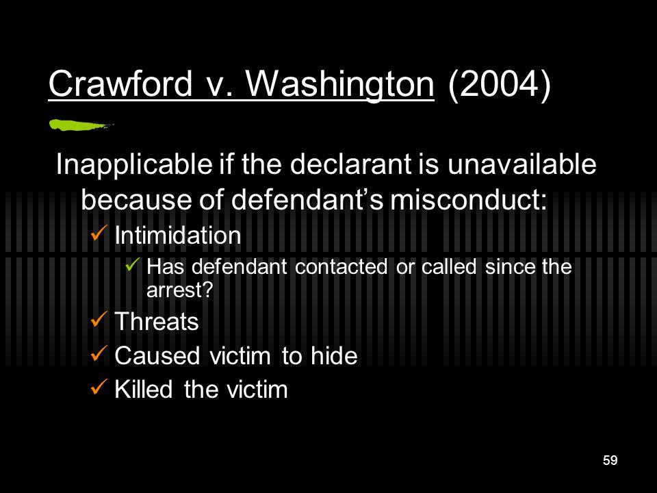 Crawford v. Washington (2004)