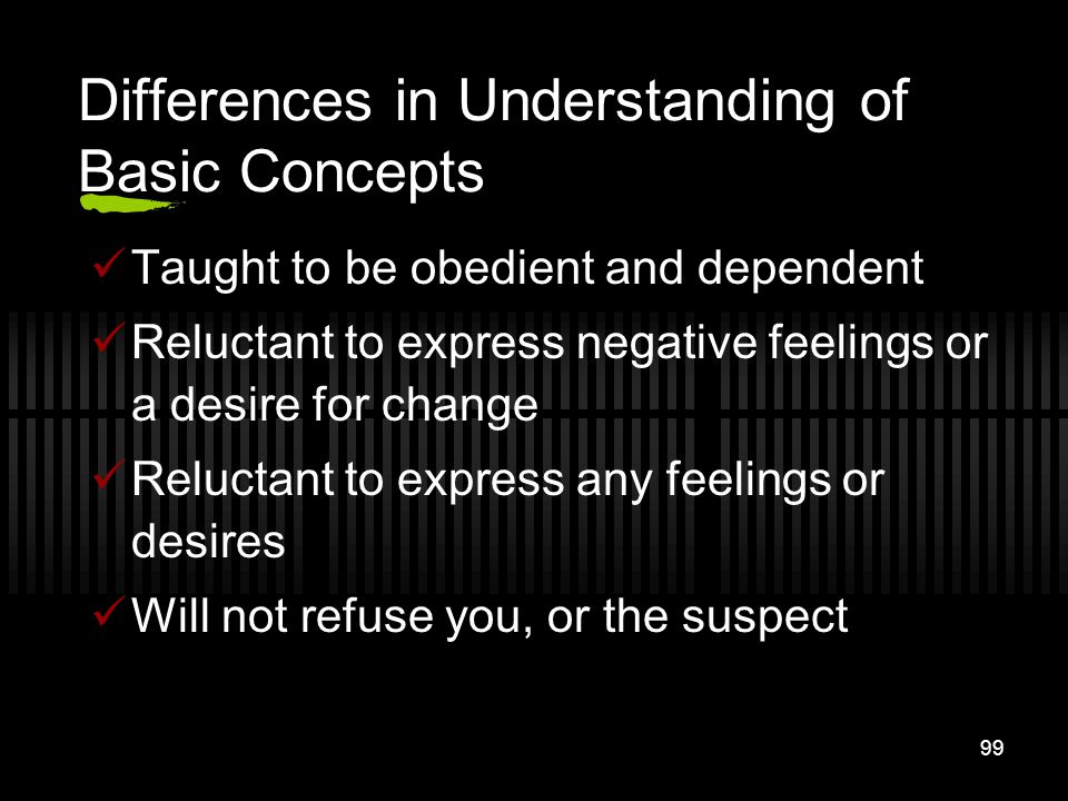 Differences in Understanding of Basic Concepts