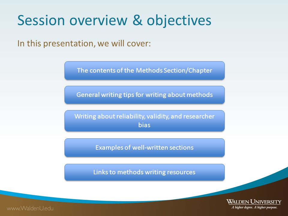 Session overview & objectives