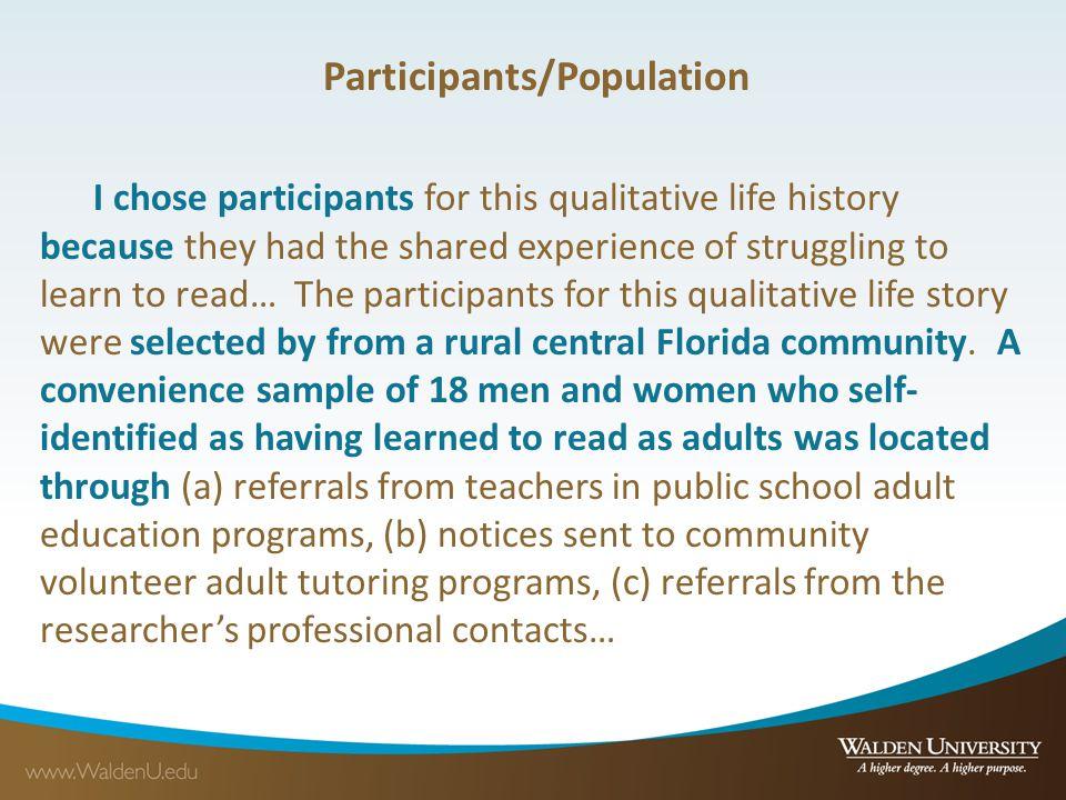 Participants/Population