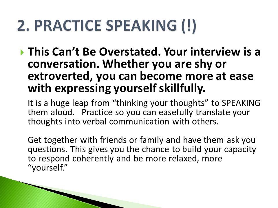 2. Practice Speaking (!)