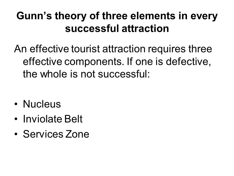 Gunn's theory of three elements in every successful attraction