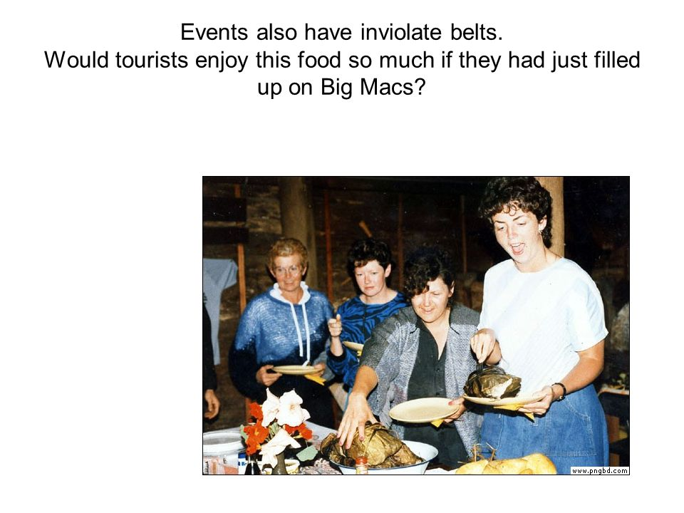 Events also have inviolate belts