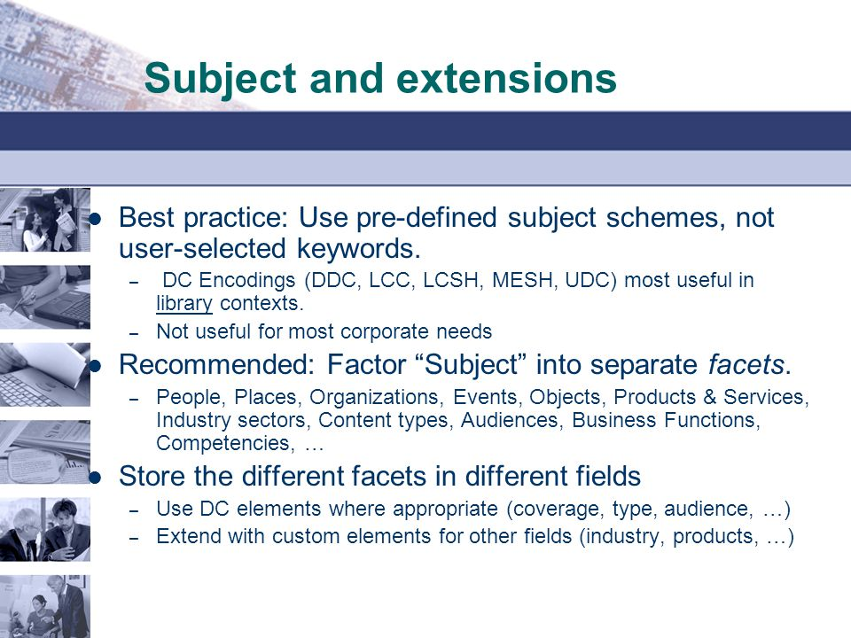Subject and extensions