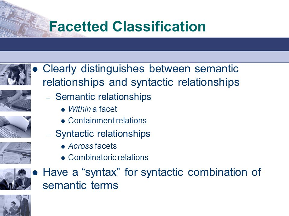 Facetted Classification